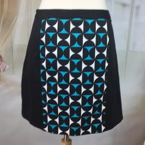 Worthington Skirts - Worthington Black Abstract A-line Skirt